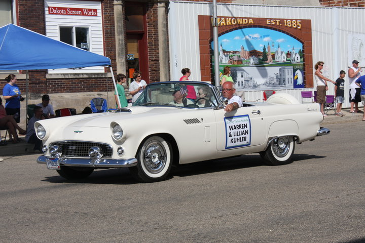 Grandma and Grandpa were the Parade Marshals for Wakonda's 125 birthday celebration (July, 2010)