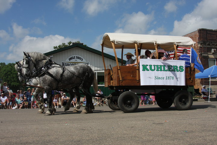 The Kuhler Family wagon for Wakonda's 125th birthday parade (July, 2010)