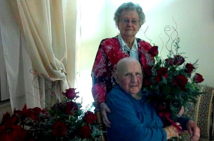Warren and Lillian's 68th Wedding Anniversary, Valentine's Day, 2013