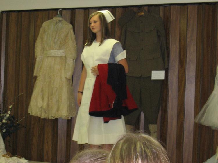 Grandma's nursing uniform, on display during Wakonda's 125th celebration (July, 2010)